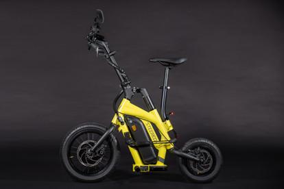 STEEREON S25 - Gelb- E-Scooter mit Sitz.