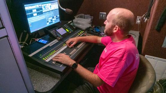 HDTV Broadcast Trailer Audio Console