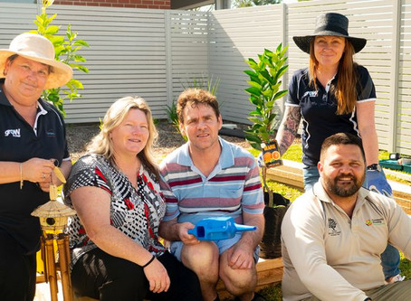 Royal Botanic Gardens helps create sensory garden in Lake Macquarie specialist disability group home