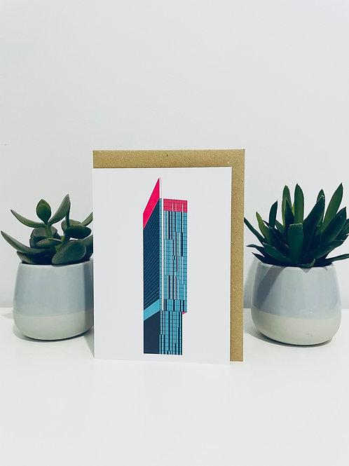Beetham Tower Greeting Card