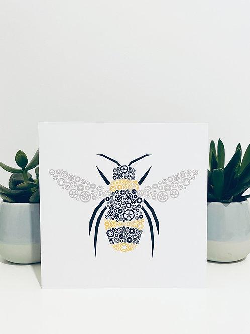 Industrial Bee Greeting Card
