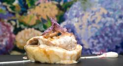 2015-08-26 timbal de manzana asada, cremoso de patatas, solomillo de cerdo y queso de cabra-12
