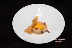 2015-06-17 Patatas rotas con setas, ajetes y huevo con crema de jamon-9