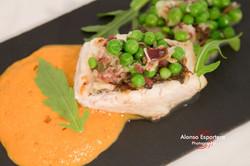 2015-06-17 merluza con ragout de guisantes y espuma a la vizcaina-9