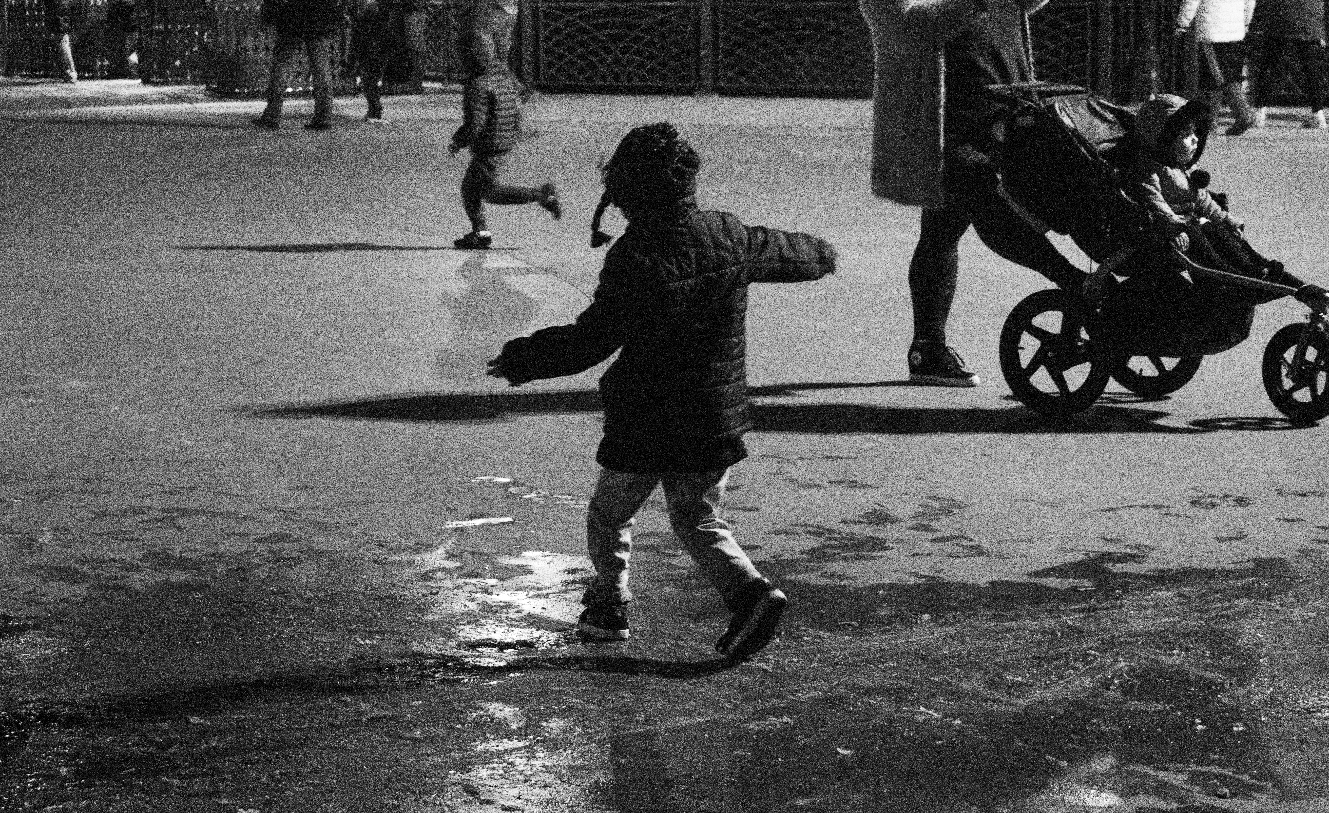 Kid Playing on Ice