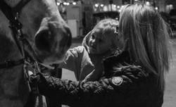 Kid Petting Horse