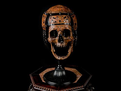 Tibetan Carved Necromancer Mask, Contemporary