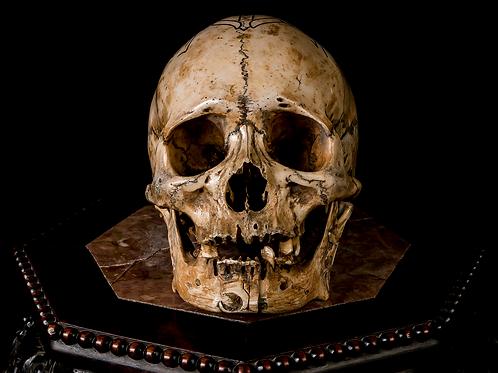 Tibetan 'Kapala' Skull, Bi-Metal Inlay