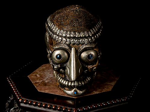 Tibetan Kapala, Full Skull