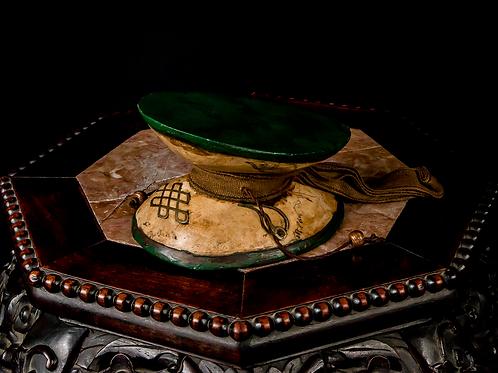 Tibetan Damaru, Metal Inlay