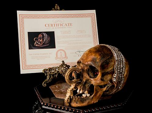 "Asmat Ancestor Skull ""Ndambirkus,"" New Guinea - Authentic w/Provenance & COA"