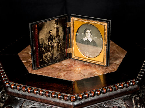 Daguerreotype 1/6th Plate with Tintype, Mid-19th Century