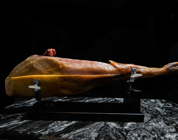 Jamón Ibérico –Hand carved acorn-fed ham, reserva 42 months D.O. Jabugo