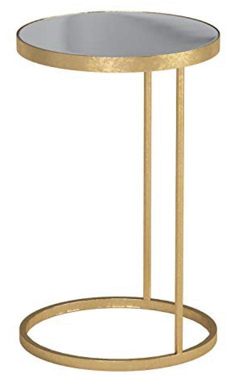 Gold Pedestal Side Tables (2)