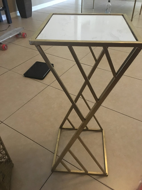 Gold/ Marble Side tables