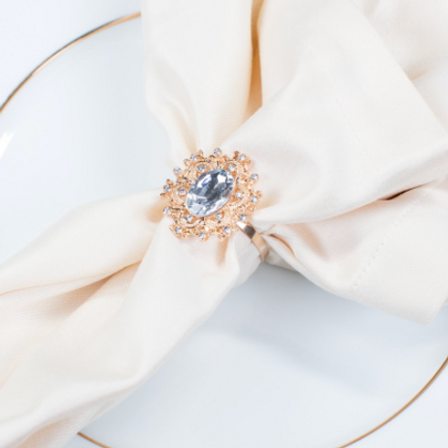 Gold & Diamond Napkin Rings