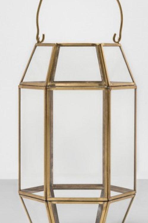 Gold & Glass Tall Lanterns (4)