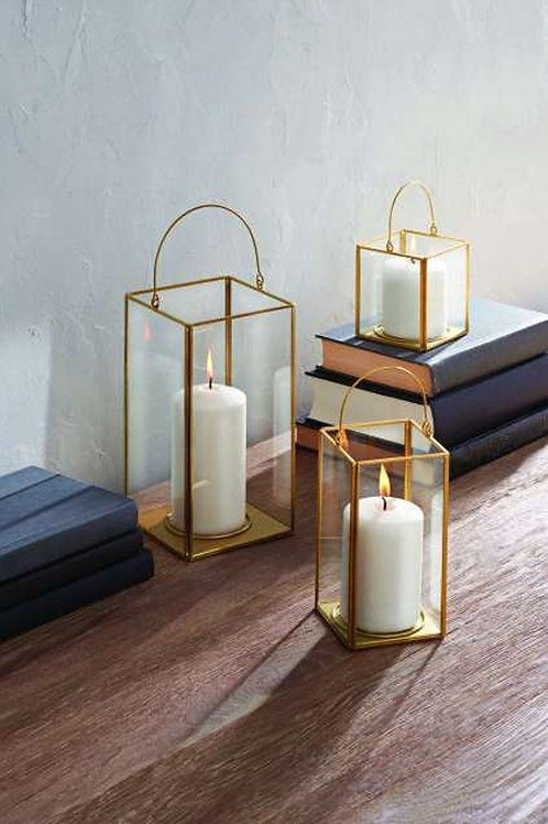 Gold & Glass Lanterns 3 pairs