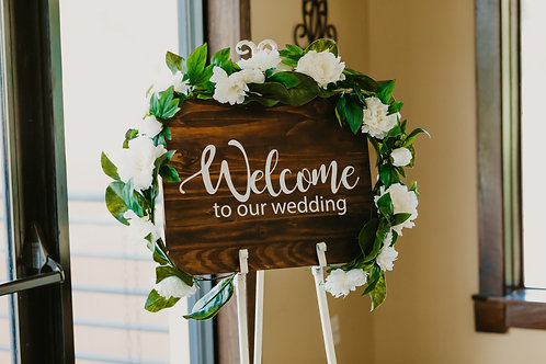 Welcome to our Wedding Signs