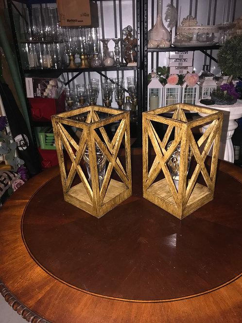 Wood Lanterns with rice lights