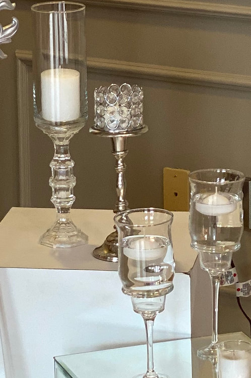 Glass Floating or Pillar Candle Holders