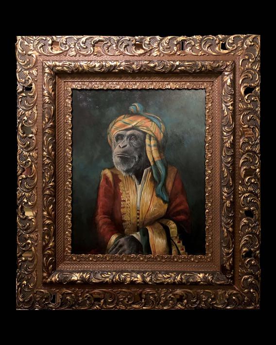 """Portrait of Lord Chimpanzee in Albanian Dress"""