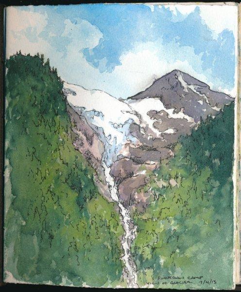 Finnegan Camp; View of Glacier