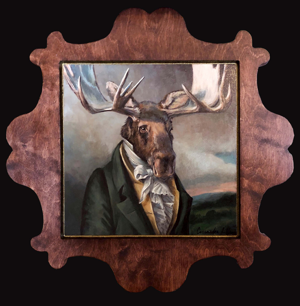 """Moose in a Cravat"""