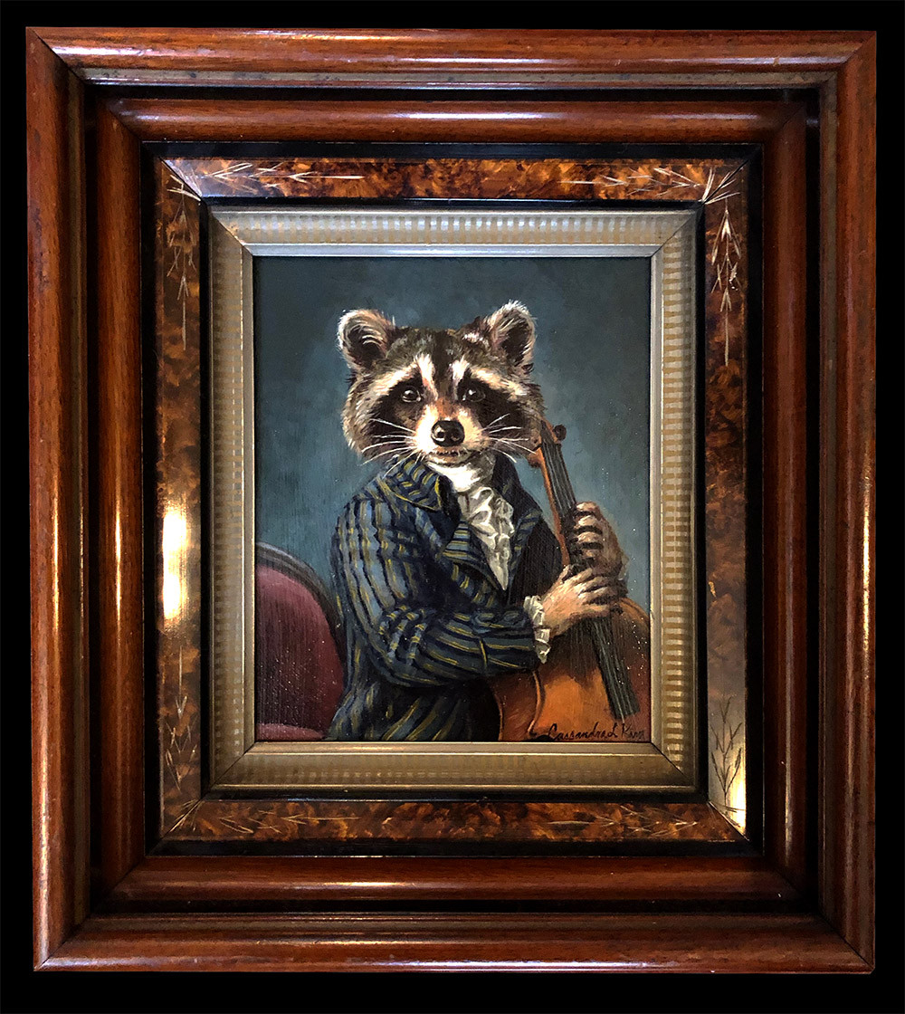 """""""Raccoon Playing the Cello"""""""