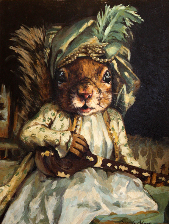 """""""Squirrel Playing the Lute"""""""