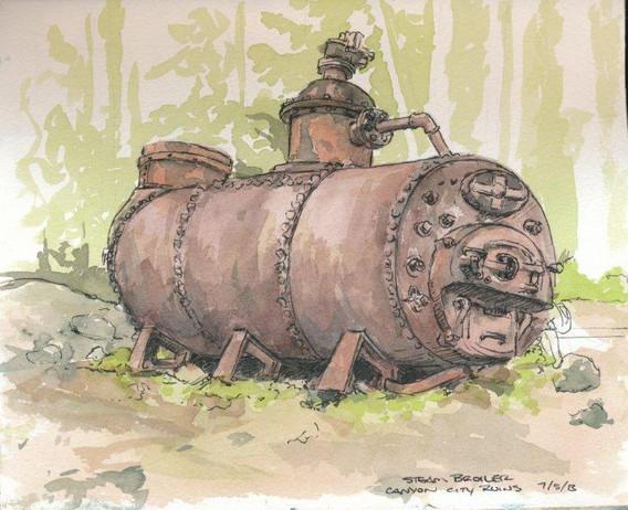 Steam Broiler at Canyon City Ruins