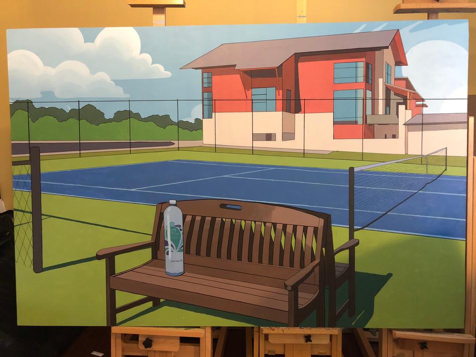 Trader Joe's Meets Tennis Court