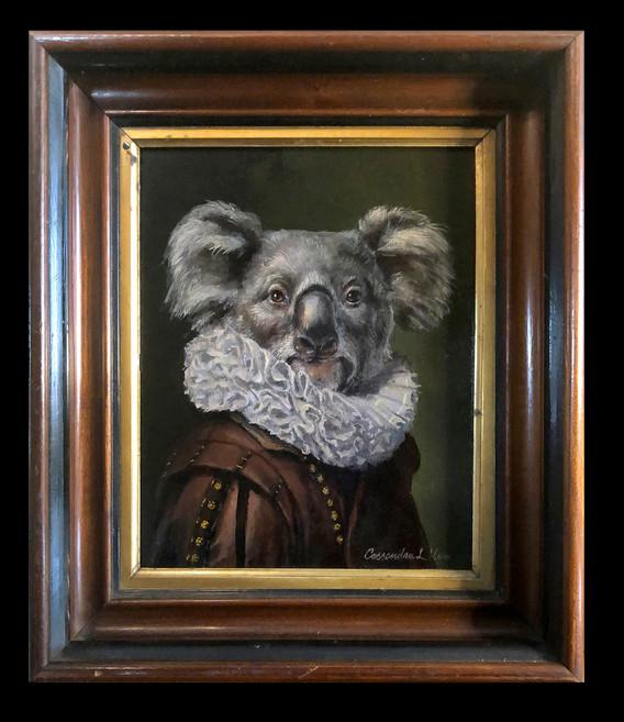 """""""Portrait of a Gentle Koala in a Fancy Ruff"""""""