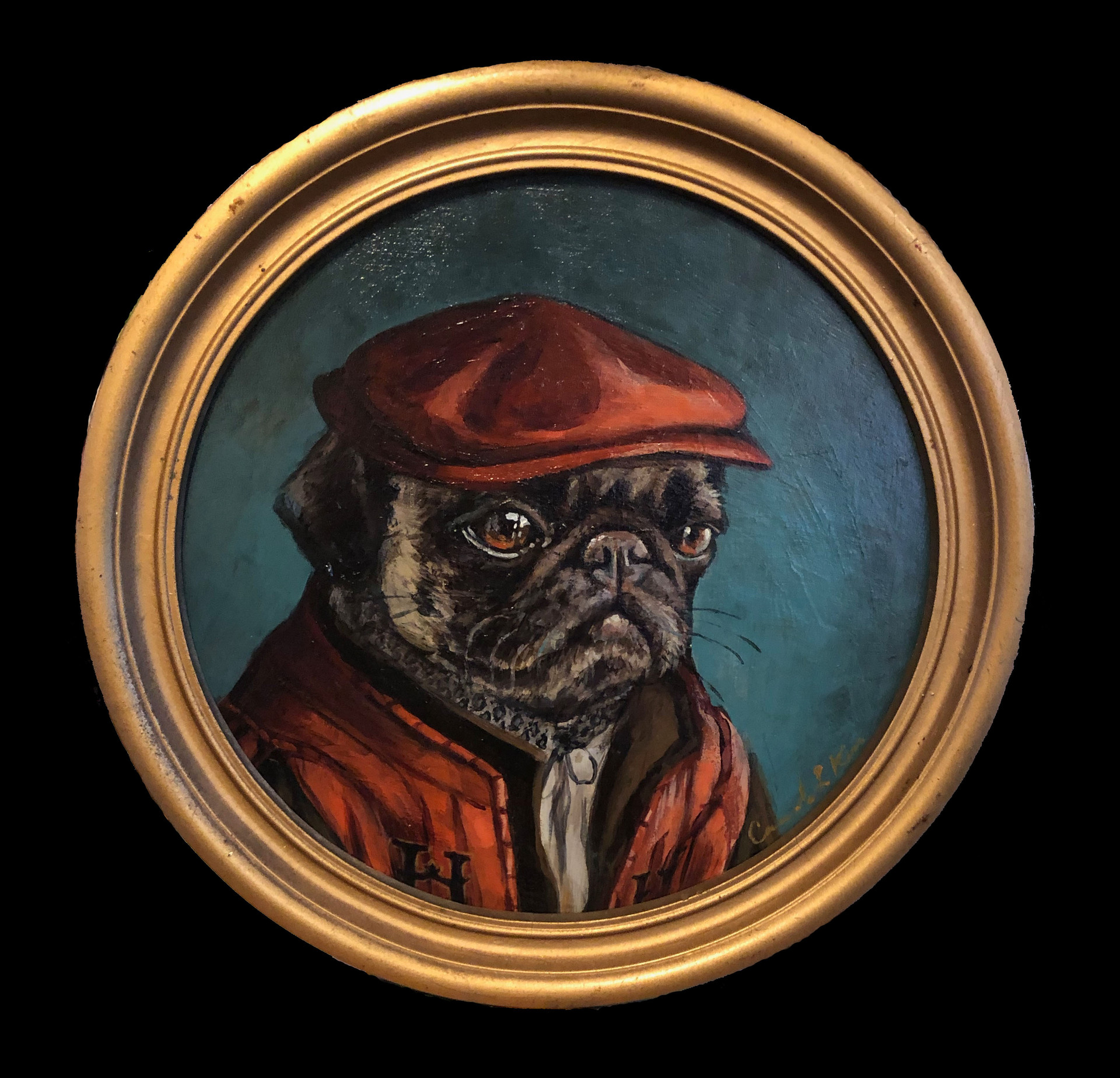 """""""Pug in a Red Hat"""""""
