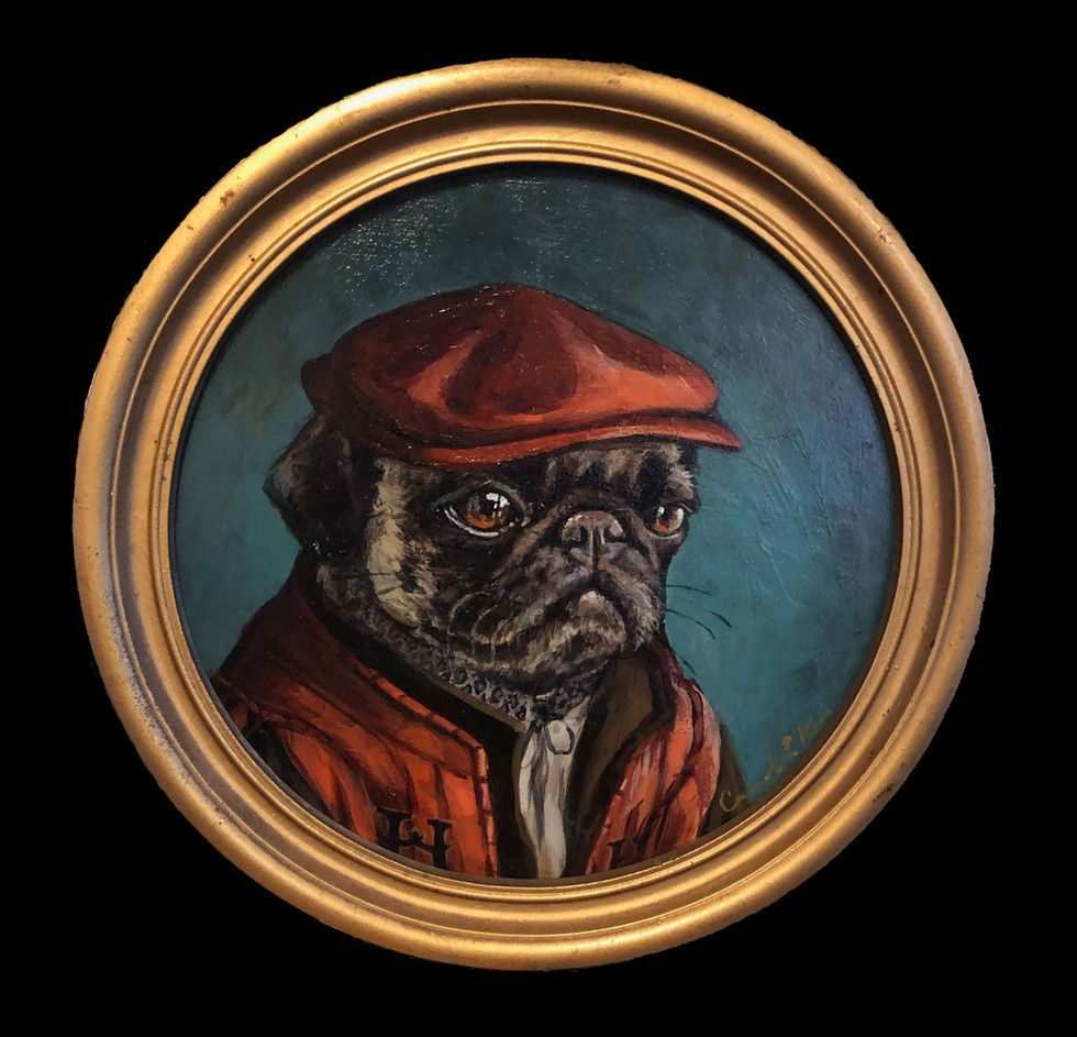 """Pug in a Red Hat"""