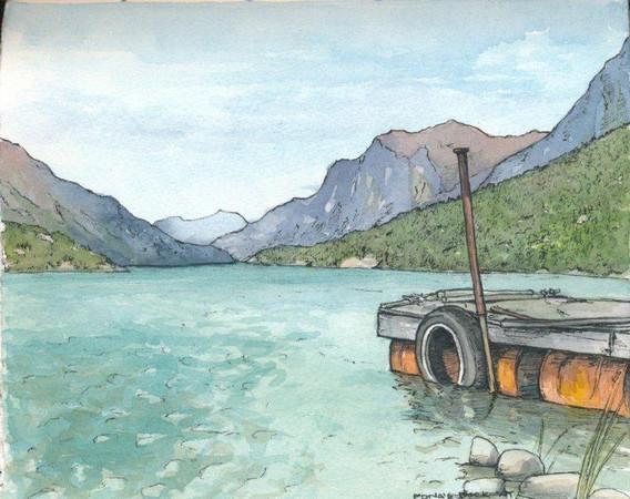Edna's Dock at Bennett Camp