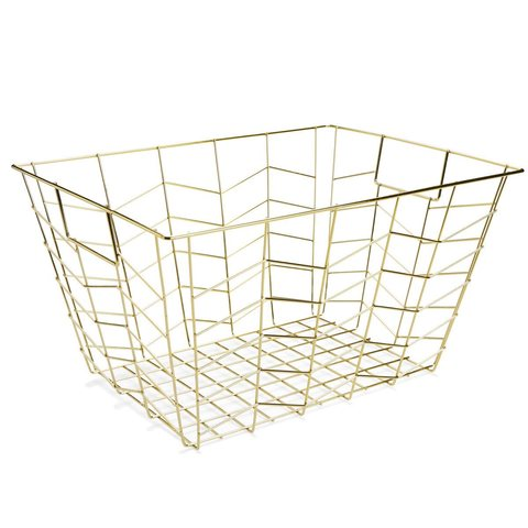 SMALL GOLD WIRE BASKET