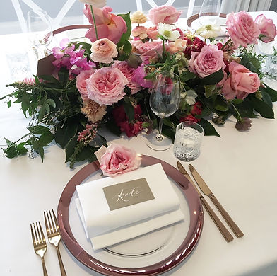 Wedding Table Setting | Honey Lane