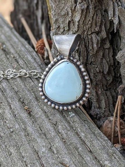 Sterling silver, Royston Turquoise pendant