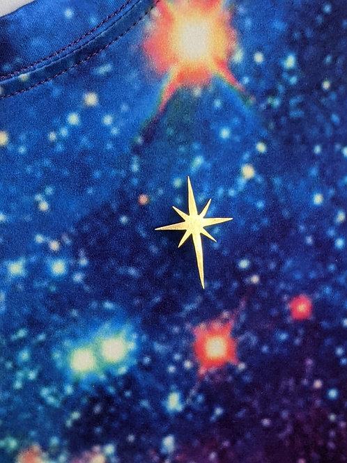 Brass north star pin
