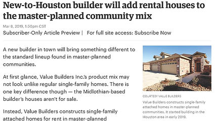 Houston Business Journal article about V