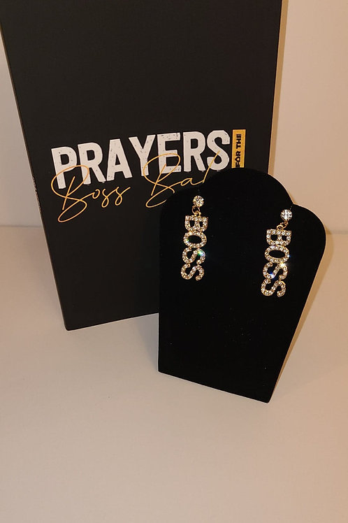 Boss Babe book with Boss Earrings