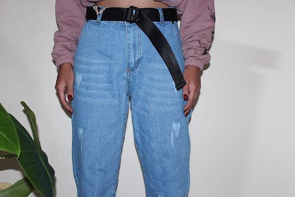 Açık Mavi Boyfriend Pantolon
