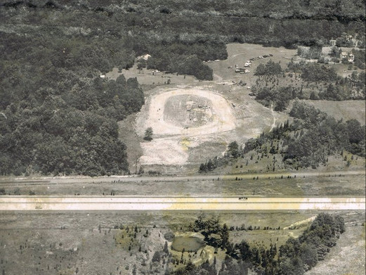 Overhead view of the club, before fences. 1966