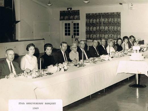 Banquet Photo 1969; 25th Anniversary
