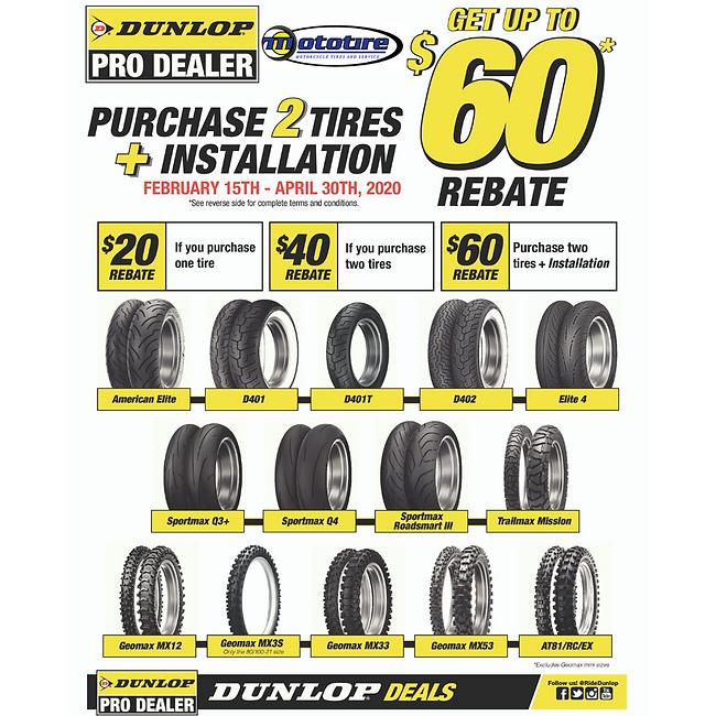 Dunlop Pro Rebates
