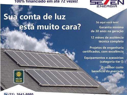 Usina de Geração de Energia Solar ongrid com geração de 850/890kw