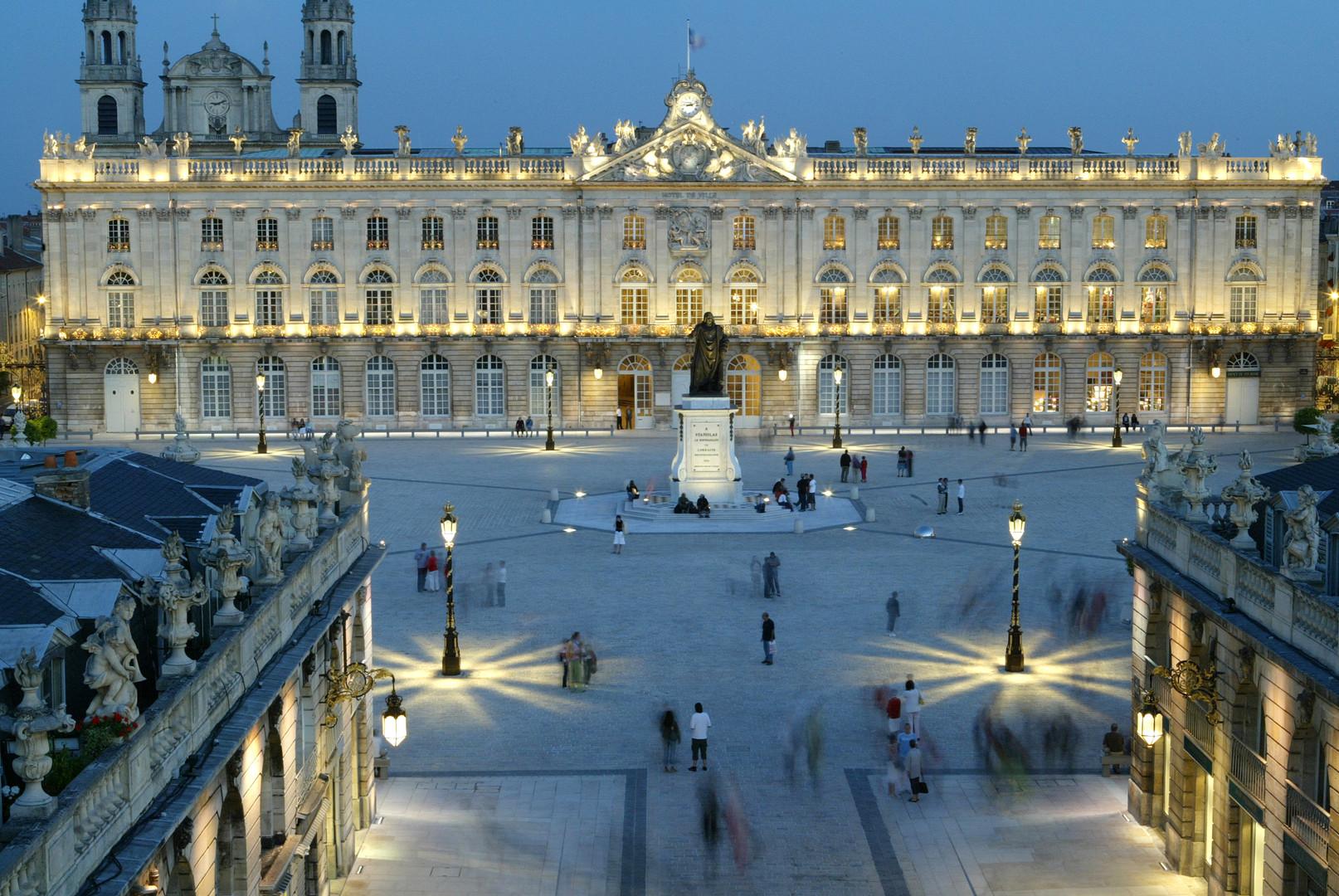 Place Stanislas au crépuscule