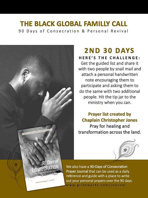 2nd 30 Days of Prayer