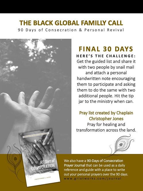 Final 30 Days of Prayer